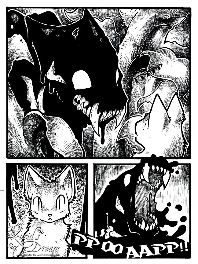 кот и чудовище